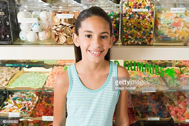 Fille en sweet shop