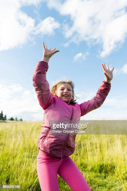 Girl celebrating beauty in nature