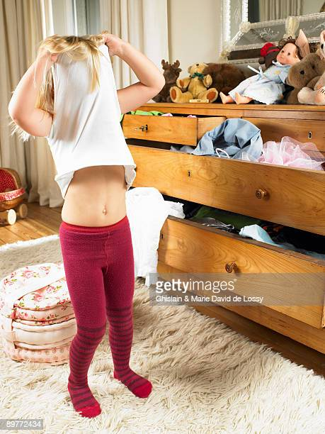Girl changing clothes