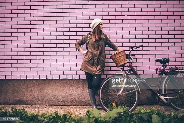Mädchen Radfahrer