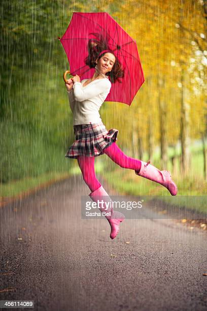 Girl Dancing in the Rain