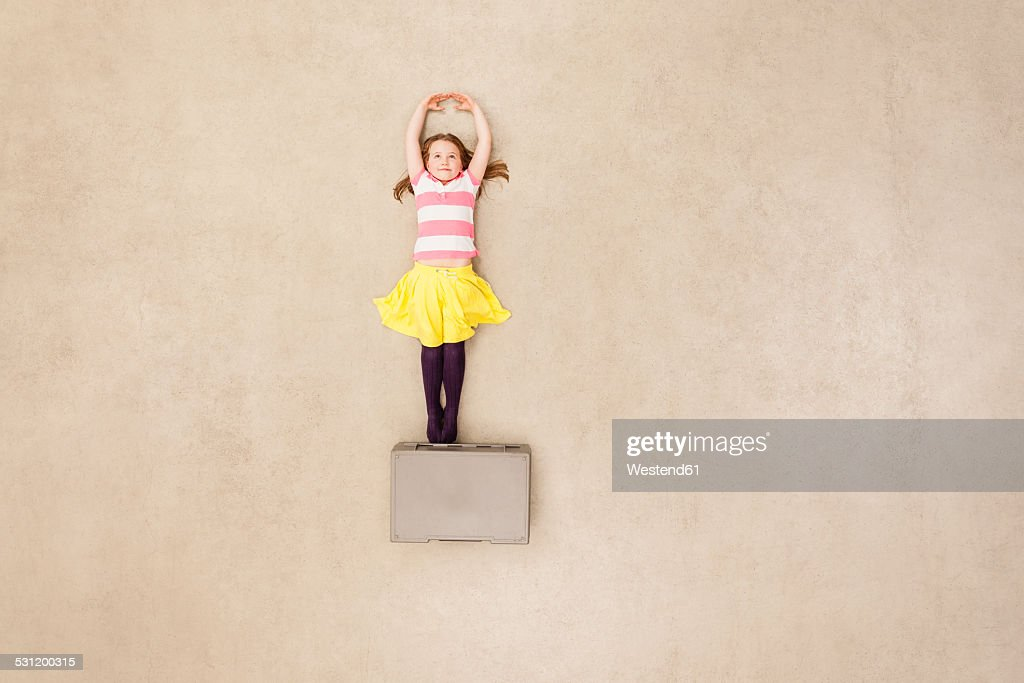 Girl dancing on box