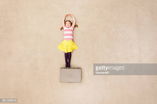 Girl dancing on box