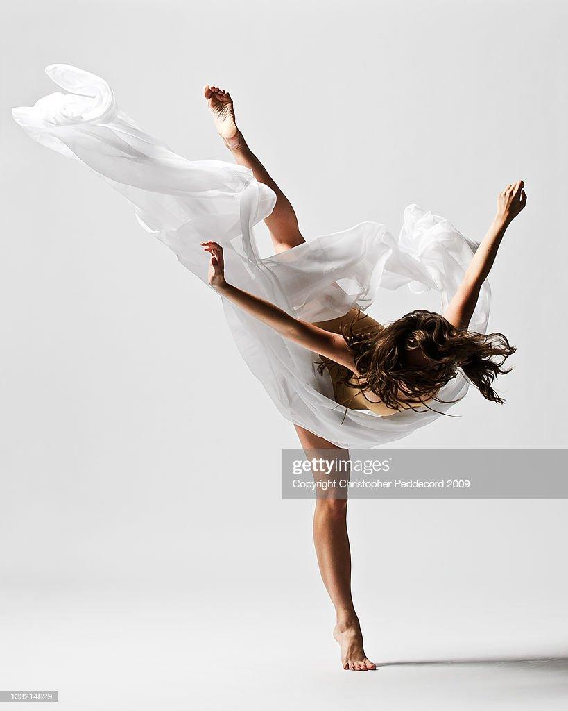 Girl dancing : Stock Photo
