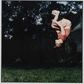 Girl Doing a Backflip