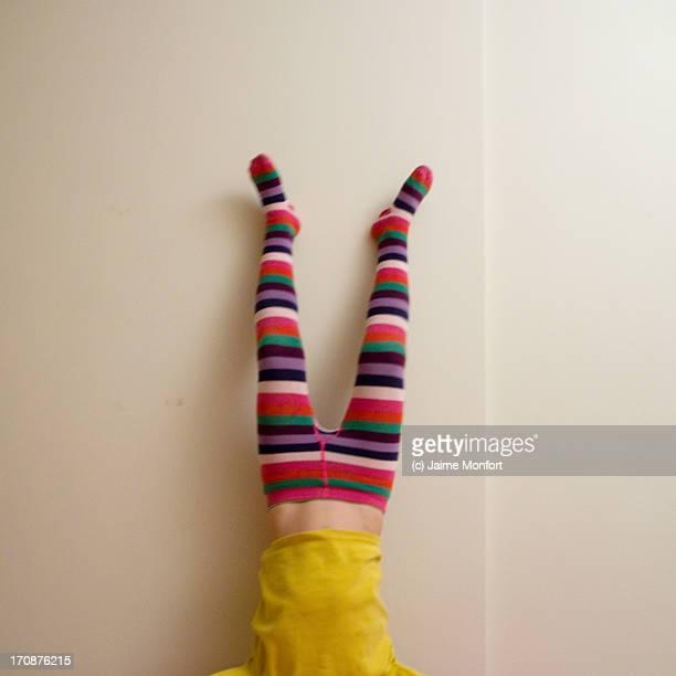 Girl doing a handstand