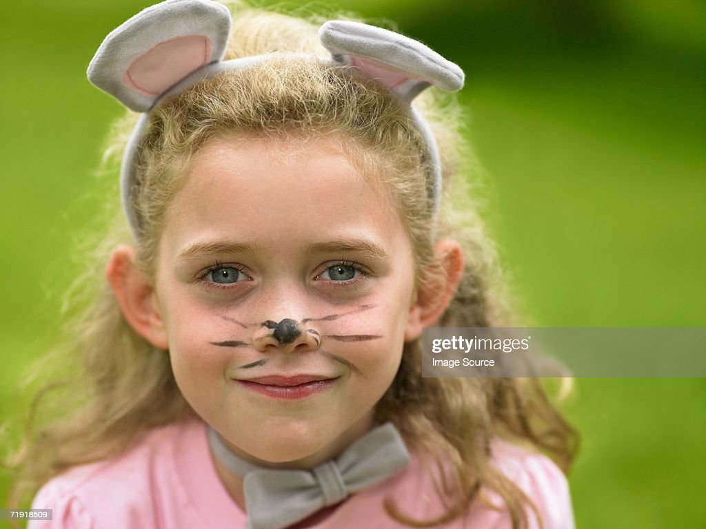 Girl dressed as a mouse