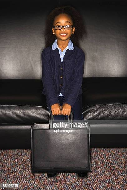 Girl dressed as businesswoman