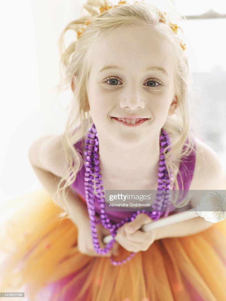 Girl Dressed as Fairy Princess : Stock Photo