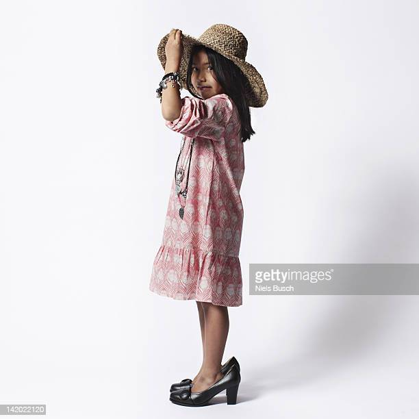 Mädchen Kleidung in Mütter Schuh