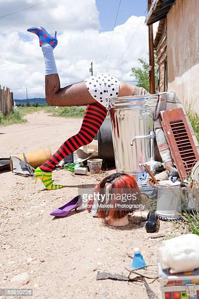 Girl dumpster diving