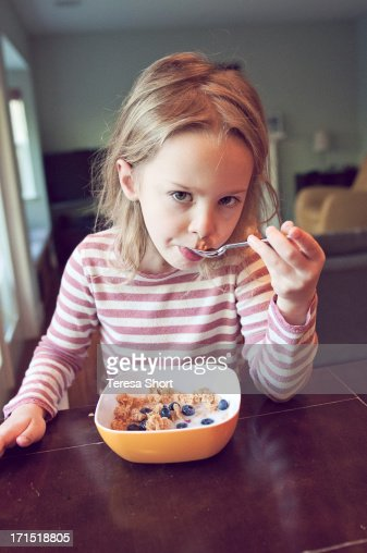 Child Caucasian Cereal Stock Photos and Pictures   Getty ...