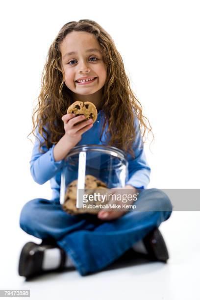 Girl eating cookies