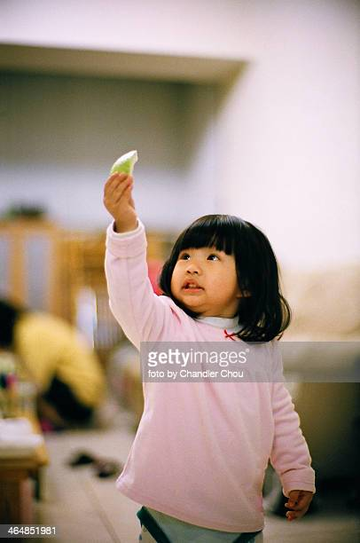 girl eating fruits