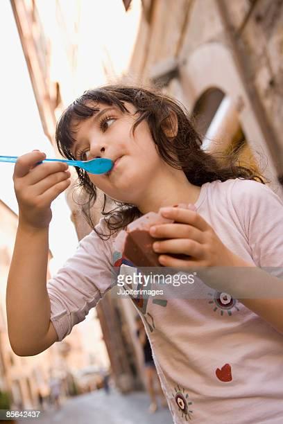Girl eating gelato