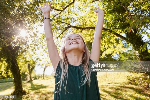 Girl enjoying herself in park