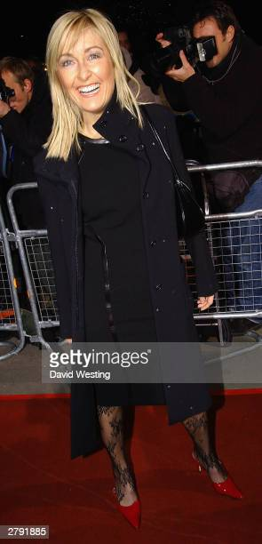 Girl Fiona Phillips attends the National Television Awards Party Of The Year at The Royal Opera House December 7 2003 in London England