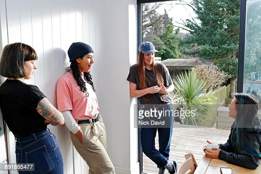 Girl friends hanging out together