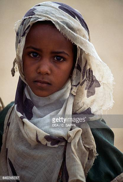 Girl from the village school Sani Bayuda desert Sahara desert Sudan