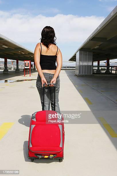 Girl going on holidays