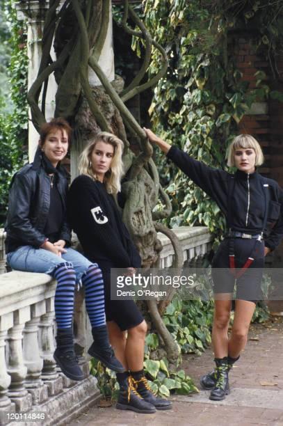 Girl group Bananarama circa 1986 Left to right Keren Woodward Sara Dallin and Siobhan Fahey