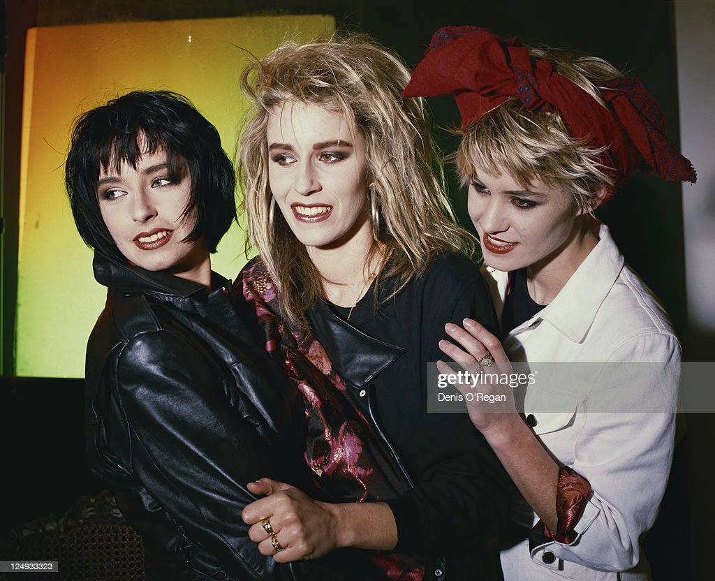 Girl group Bananarama, circa 1988. Left to right: Keren Woodward, Sara Dallin and Siobhan Fahey.