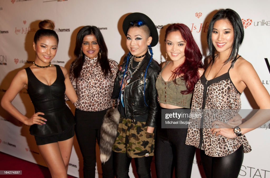 Girl group 'Blush' attends 'Love Is Heroic' - The Unlikely Heroes Annual Spring Benefit at W Hollywood on March 21, 2013 in Hollywood, California.