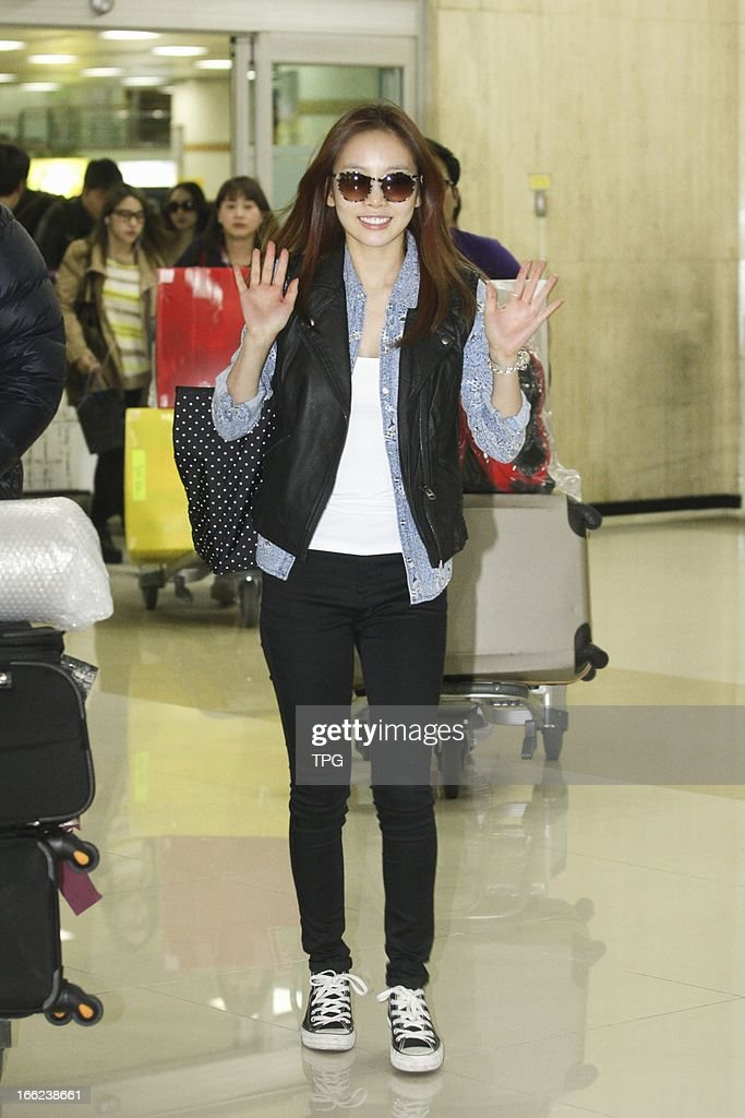 Girl group KARA finished their trip in Japan and arrived home on Sunday April 07, 2013 in Seoul, South Korea.