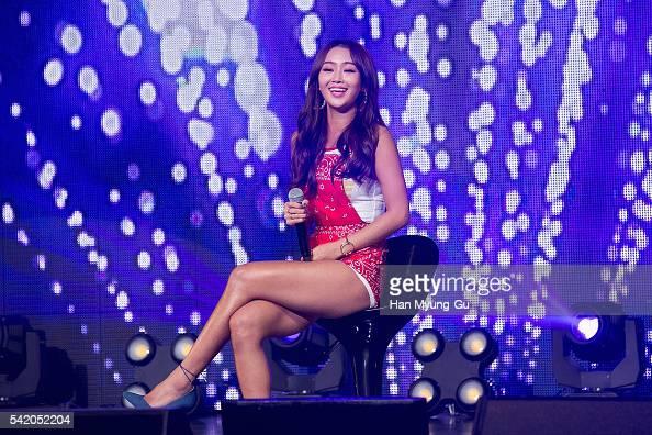 Girl group SISTAR attends the '2016 SISTAR 4th MiniAlbum Comeback Showcase' In Seoul on June 21 2016 in Seoul South Korea