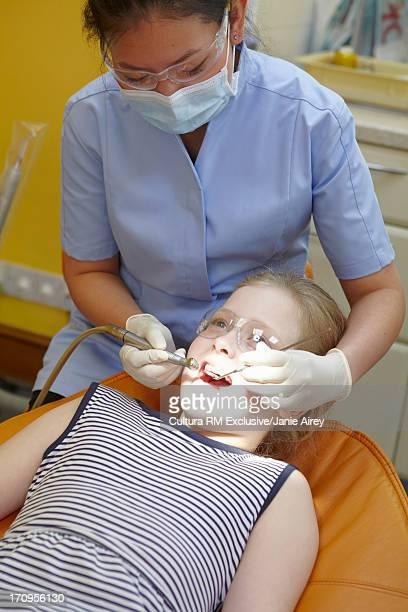 Girl having a dental examination