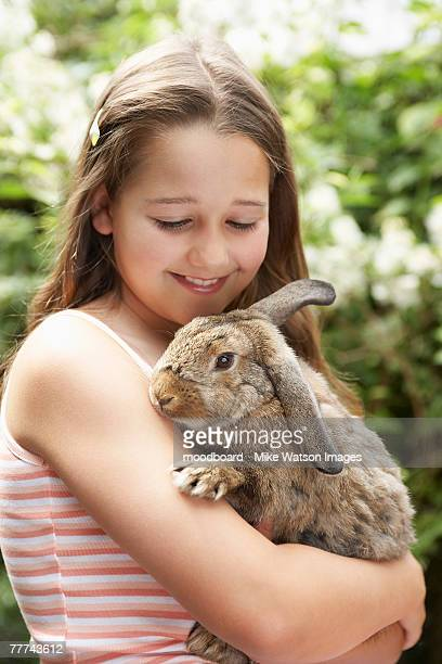 Girl Holding Rabbit