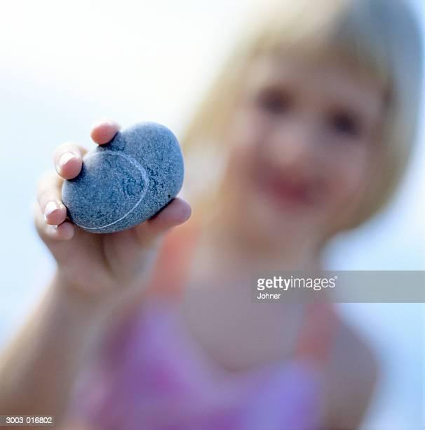 Girl Holding Stone