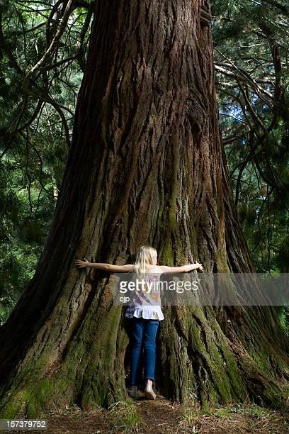Girl Hugging Tree 2