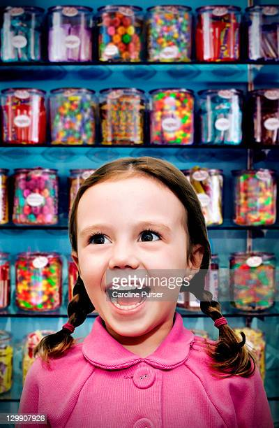 Girl in a candy store