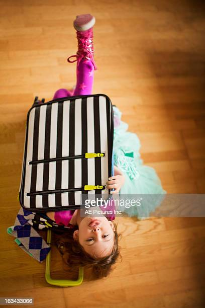 Girl in a suitcase