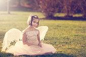 Girl in Angelic Fairy Costume