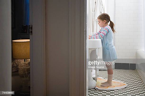Girl in bathroom