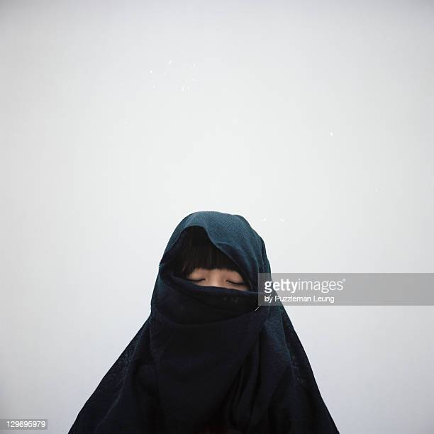 Girl in black shawl