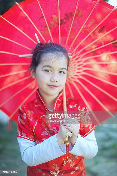 Girl in Chinese dress