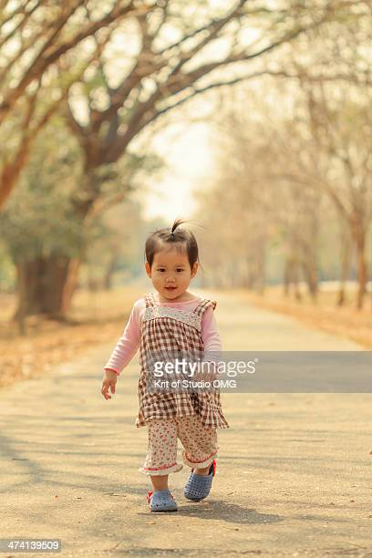 Girl in Cold and Sunny day