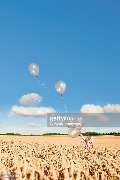 Girl in corn field