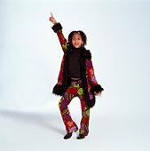 Girl in disco pose