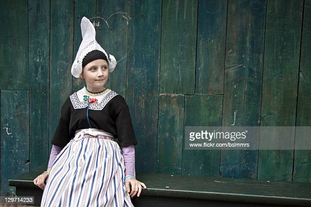Girl in Dutch folklore costume