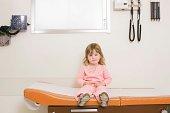 Girl in examining room