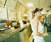 Girl in Fast Food Restaurant