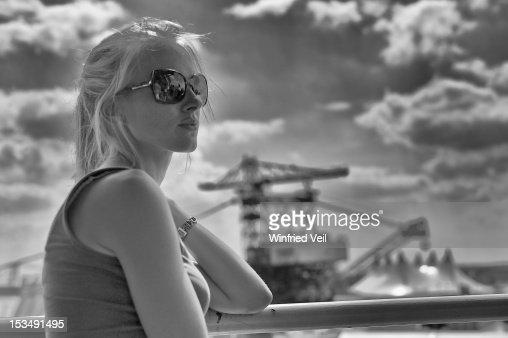 Girl in Ferropolis : Stock Photo