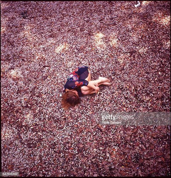 Girl in fetal position