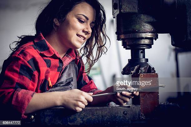 Girl in her workshop