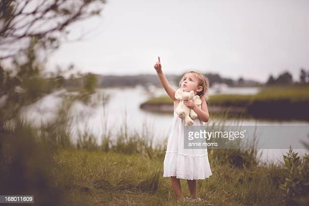 Girl in marsh