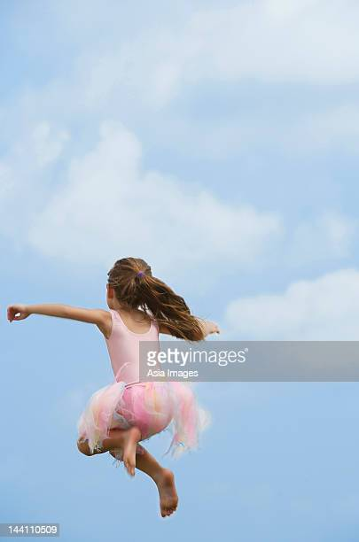 girl in mid-air
